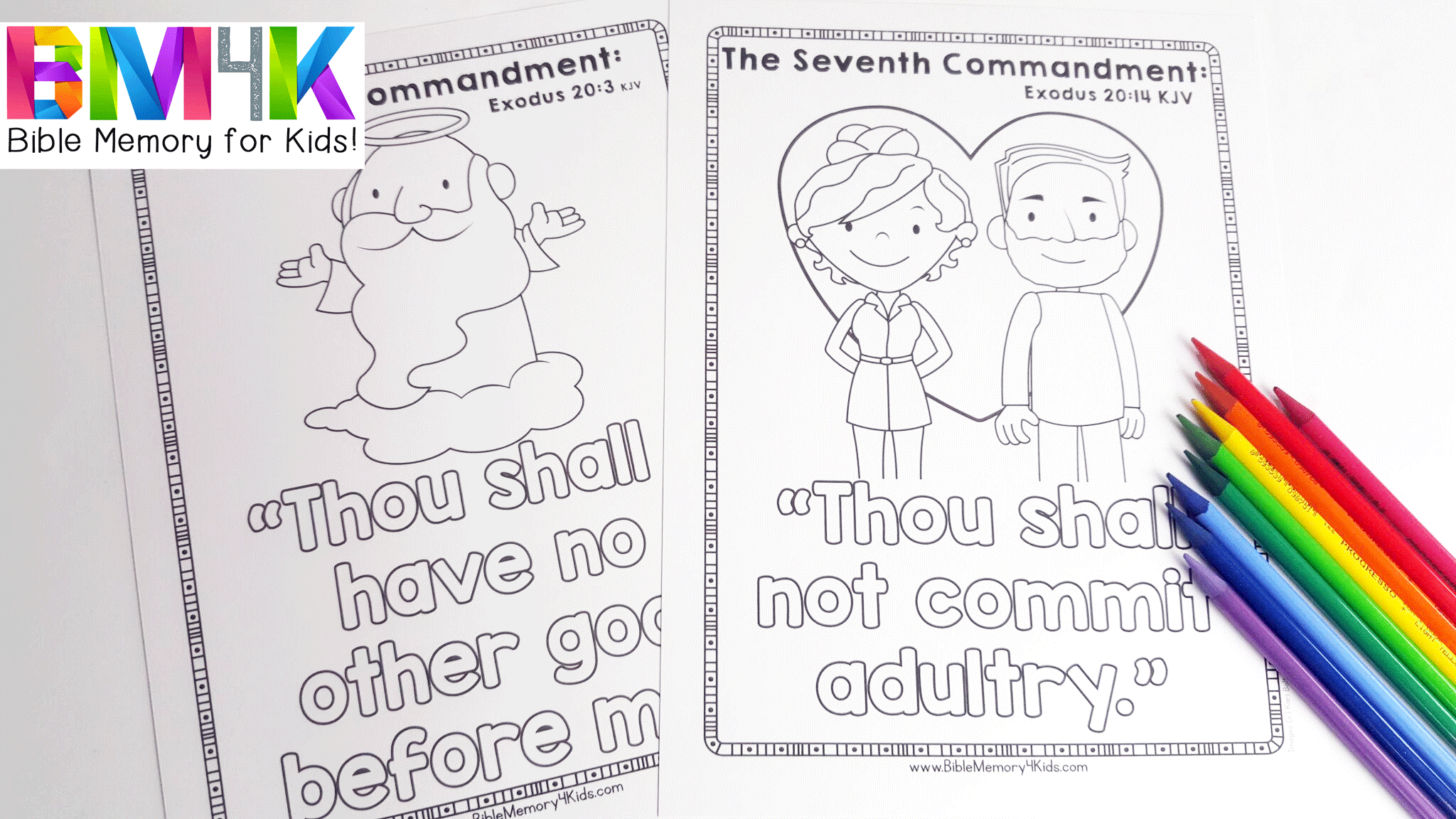 Bible memory 4 kids the ten commandments for 1st commandment coloring page