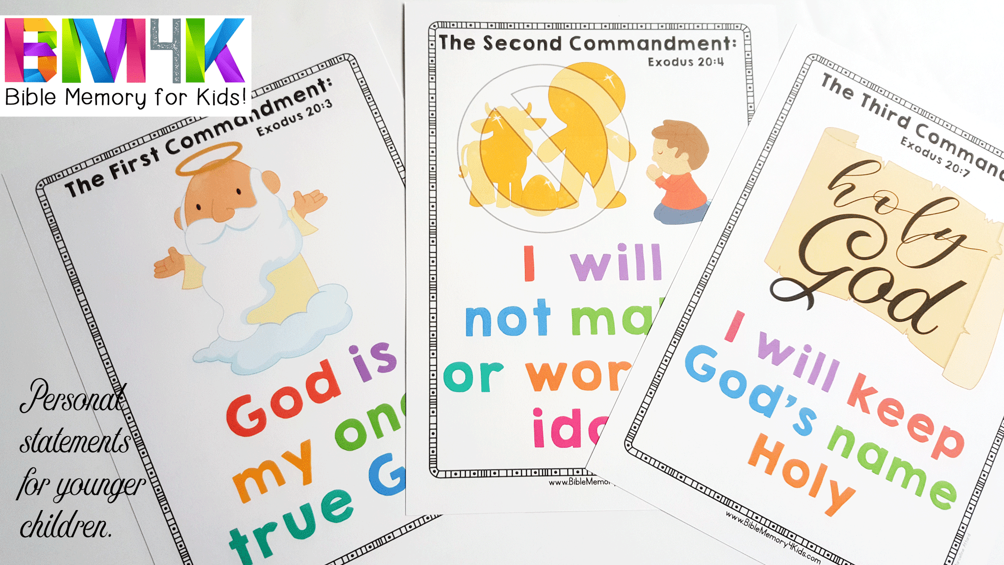 bible memory 4 kids the ten commandments
