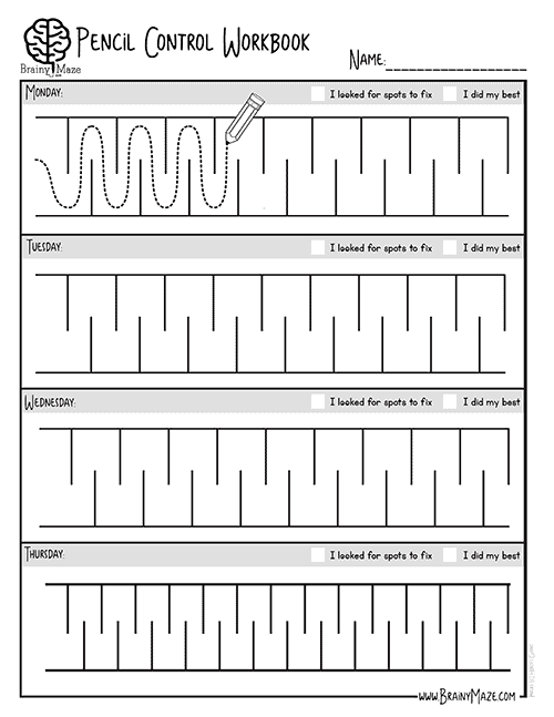 Pencil Control Workbook - The Crafty Classroom