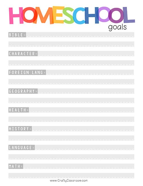 This is a graphic of Free Homeschool Planner Printable for editable