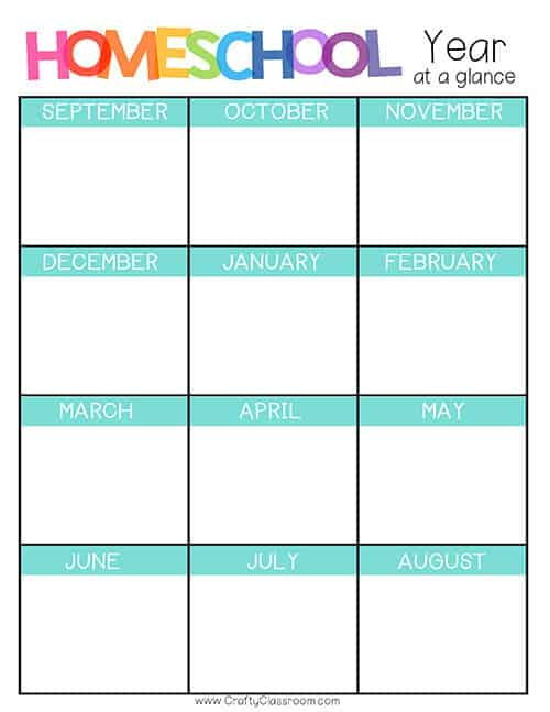 photo about Homeschool Daily Schedule Printable identify Free of charge Homeschool Planner - The Cunning Clroom