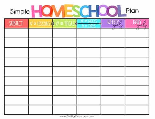 graphic regarding Printable Homeschool Planners named Free of charge Homeschool Planner - The Cunning Clroom